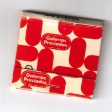 Cajas de Cerillas: CAJA CERILLAS DE GALERÍAS PRECIADOS. Lote 40162782