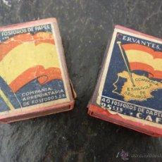 Cajas de Cerillas: CAJETILLAS MADERA CERILLAS BANDERA ESPAÑOLA. Lote 40179152