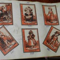 Cajas de Cerillas: HOJA CON ETIQUETAS DE CAJAS DE CERILLAS - ALLUMETTES ANCIENNE ÉTIQUETTE - OLD LABEL MATCHBOXES, DE M. Lote 38287061