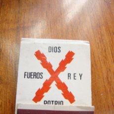 Cajas de Cerillas: CAJA CERILLAS CARLISTAS ANTIGUAS. GENERAL FOSFORERA MADRID. Lote 40463198