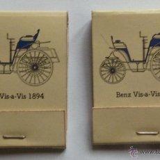 Cajas de Cerillas: LOTE DE 2 CAJITAS DE CERILLAS DE MERCEDES BENZ VIS A VIS 1894 VIS-A-VIS CAJA CAJITA NUEVAS. Lote 40521855