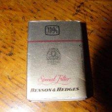 Cajas de Cerillas: CAJA DE CERILLAS - BENSON HEDGES - CON SUS CERILLAS ORIGINALES -. Lote 40760016