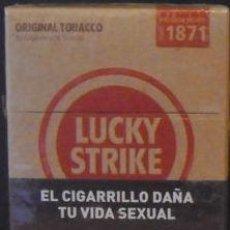 Cajas de Cerillas: LUCKY STRIKE 20'S BOX SERIE 1871 CON ADVERTENCIA FOTOGRAFICA. Lote 40854792