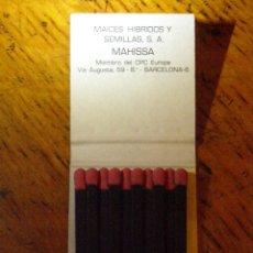 Cajas de Cerillas: CAJA CERILLAS FUNK´S G HIBRIDS - MAICES HIBRIDOS Y SEMILLAS, S.A. - MAHISSA - MIEMBRO DEL CPC EUROPE. Lote 40960925
