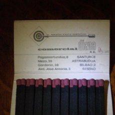 Cajas de Cerillas: ANTIGUA CAJA DE CERILLAS - AEG - ELECTRODOMÉSTICOS - CONÓZCANOS A FONDO - COMERCIAL DIANA - . Lote 40961016