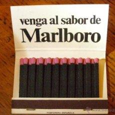 Cajas de Cerillas: ANTIGUA CAJA DE CERILLAS - MARLBORO - COMPLETA -. Lote 40965365