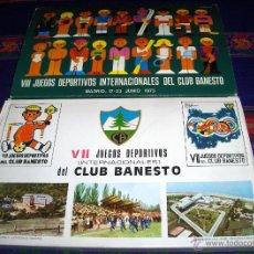 Cajas de Cerillas: VII Y VIII JUEGOS DEPORTIVOS INTERNACIONALES CLUB BANESTO 1972 1973 CON REGALO. COMPLETAS. BE.. Lote 41317681