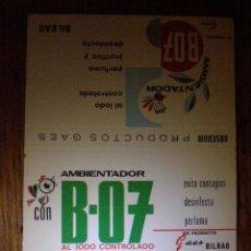 Cajas de Cerillas: CARTON ETIQUETA DE CAJA DE CERILLAS - AMBIENTADOR B-07 AL IODO CONTROLADO - PRODUCTOS GAES -NUEVO -. Lote 41333532