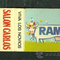 Cajas de Cerillas: CAJA CERILLAS LECHE RAM VACA. Lote 41348482