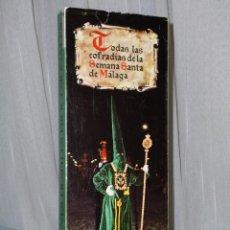 Cajas de Cerillas: TODAS LAS COFRADÍAS DE SEMANA SANTA DE MÁLAGA. SOLEMNES DESFILES DE PROCESIÓN.. Lote 42337780