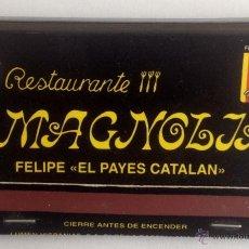 Cajas de Cerillas: CAJA DE CERILLAS - RESTAURANTE MAGNOLIA (TENERIFE). Lote 43475676