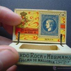 Cajas de Cerillas: CAJA DE CERILLAS DEL GREMIO DE FABRICANTES ( 100 AÑOS, APROX ) - SELLOS NÚMERO 48 ( SERBIA ). Lote 43499131