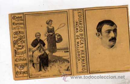 CROMO COMPLETO DE CAJA DE CERILLAS EDUARDO ROCA Y HERMANO. MALLORCA PELOTARI SALSAMENDI PELOTA VASCA (Coleccionismo - Objetos para Fumar - Cajas de Cerillas)
