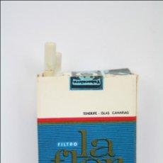 Cajas de Cerillas: CAJA DE CERILLAS - PAQUETE DE TABACO LA FLOR FILTRO - A. CARRILLO, CANARIAS - VACÍA - 5,5 X 3,5 CM. Lote 43888922