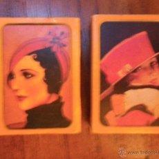 Cajas de Cerillas: 2 CAJS DE CERILLAS DE SOMBREROS DE ÉPOCA. Lote 44077811