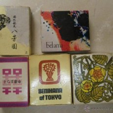 Cajas de Cerillas: 5 CAJAS DE CERILLAS JAPONESAS O RELACIONADAS CON JAPÓN.. Lote 44079770