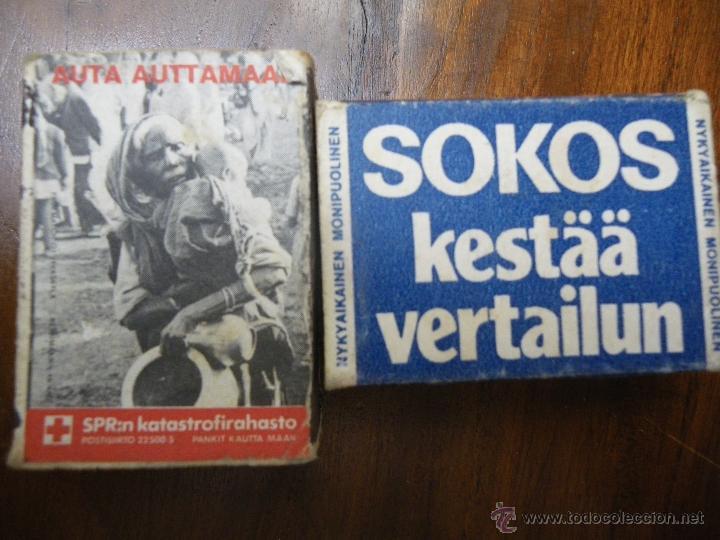 2 CAJAS DE CERILLAS DE FINLANDIA, FINN-MATCH OY (Coleccionismo - Objetos para Fumar - Cajas de Cerillas)