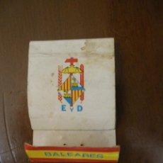 Cajas de Cerillas: CAJA CERILLAS EDUCACIÓN Y DESCANSO DE MALLORCA (VACÍA Y EN MAL ESTADO). Lote 44256055