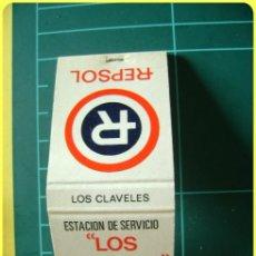 Cajas de Cerillas: CAJA DE CERILLAS ESTACIÓN DE SERVICIO GASOLINERA REPSOL LOS CÁRMENES, LUGO. Lote 44406347