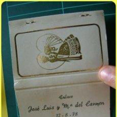 Cajas de Cerillas - Caja de cerillas de boda, enlace, año 1978 - 44426774