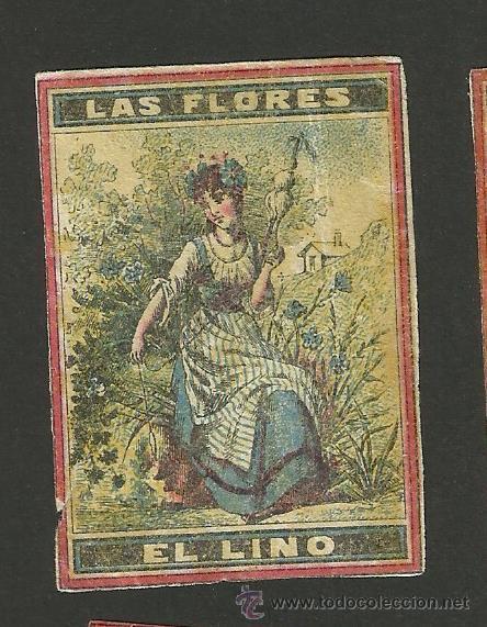 LAS FLORES - COLECCION 15 CROMOS CAJAS DE CERILLAS - (V-1155) (Coleccionismo - Objetos para Fumar - Cajas de Cerillas)