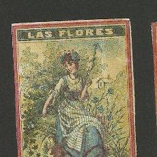 Cajas de Cerillas: LAS FLORES - COLECCION 15 CROMOS CAJAS DE CERILLAS - (V-1155). Lote 44428689