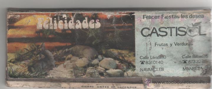 CAJA DE CERILLAS CON NUMERO DE LOTERIA AÑOS 70 CASTISOL (Coleccionismo - Objetos para Fumar - Cajas de Cerillas)
