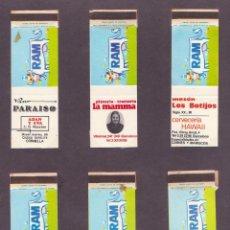 Cajas de Cerillas: COLECCION SEIS CAJA CERILLAS PUBLICIDAD LECHE RAM MBE. Lote 44737707