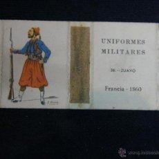 Cajas de Cerillas: CAJA DE CERILLAS ABIERTA UNIFORMES MILITARES FRANCIA 1860 FOSFORERA ESPAÑOLA SA Nº 2 . Lote 44855644