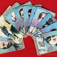 Cajas de Cerillas: LOTE DE 12 CROMOS RECORTADOS CAJAS DE CERILLAS, PERSONAJES MILITARES , SIGLO XIX , ORIGINALES , A. Lote 46210456
