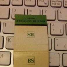 Cajas de Cerillas: CAJA DE CERILLAS BANCO DE SANTANDER. USADA. Lote 46302930