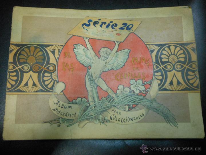 SERIE 20 ALBUM DE 75 FOTOTIPIAS DE CAJAS DE CERILLAS DE GRANDES PINTORES - COMPLETO CROMOS (Coleccionismo - Objetos para Fumar - Cajas de Cerillas)