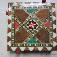 Cajas de Cerillas: CERILLERO EN MARQUETERÍA (MADERA) PARA 4 CAJAS DE CERILLAS. Lote 48416117