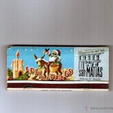 Cajas de Cerillas: CAJA DE CERILLAS AÑO 1974, CON LOTERIA DE NAVIDAD. Lote 48617524
