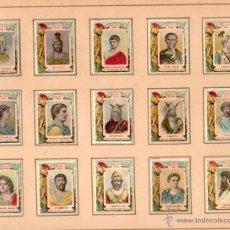 Cajas de Cerillas: SERIE COMPLETA 18 CERILLAS. REYES Y GOBERNANTES DEL MUNDO. CROMOLITOGRAFÍAS, CIRCA 1910. Lote 48630088