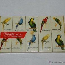 Cajas de Cerillas: (M) LOTE 10 CAJAS CERILLAS BUEN ESTADO -PAJAROS. Lote 48755851