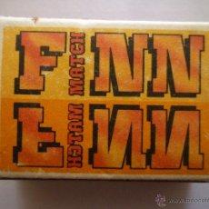 Cajas de Cerillas: CAJA DE CERILLAS FINN-MATCH OY DE FINLANDIA. CON CERILLAS EN SU INTERIOR.. Lote 49043254