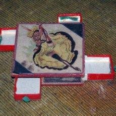 Cajas de Cerillas: CAJA DE CERILLAS ANTIGUA SOUVENIR DE PARÍS PARA 4 CAJITAS. Lote 49069683