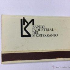 Cajas de Cerillas: CAJA DE CERILLAS DEL BANCO INDUSTRIAL DEL MEDITERRANEO - CAJA - AÑOS 70. Lote 194674245