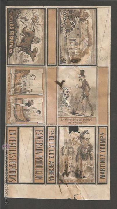 CAJAS DE CERILLAS - MARTINEZ Y COMPAÑIA - FABRICA DE LA LUZ ARCHENA - (V-2261) (Coleccionismo - Objetos para Fumar - Cajas de Cerillas)