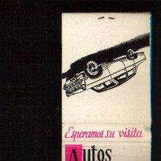 Cajas de Cerillas: CAJA DE CERILLAS - AUTOS VELMAR - VER FOTOS QUE NO TE FALTE EN TU COLECCION. Lote 49242300