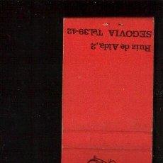Cajas de Cerillas: CERILLAS PUBLICIDAD - RESTAURANTE GARRIDO -- VER FOTOS QUE NO TE FALTE EN TU COLECCION. Lote 49280751