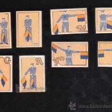 Cajas de Cerillas: COLECCION DE 8 CAJAS DE CERILLAS DE SEÑALES A BRAZOS INTERNACIONALES. Lote 27042497
