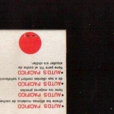 Cajas de Cerillas: CERILLAS PUBLICIDAD ANTIGUA -AUTOS PACIFICO - VER FOTOS QUE NO TE FALTE EN TU COLECCION . Lote 49728193