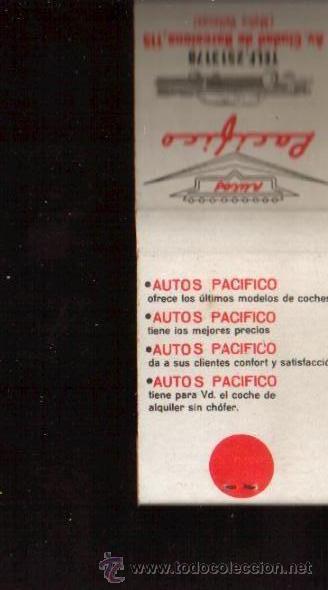 Cajas de Cerillas: CERILLAS PUBLICIDAD ANTIGUA -AUTOS PACIFICO - VER FOTOS QUE NO TE FALTE EN TU COLECCION - Foto 3 - 49728193