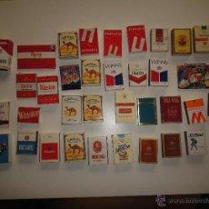 Cajas de Cerillas: LOTE 4- 41 CAJAS DE CERILLAS CON PUBLICIDAD DE TABACO , LEER READ . Lote 49947868