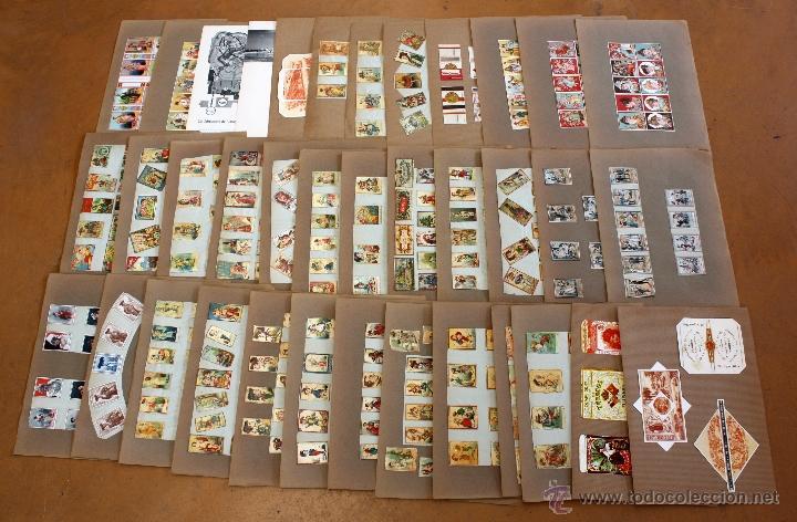 IMPORTANTE LOTE CON ALREDEDOR DE 400 CAJAS DE CERRILLAS Y FOTOTIPIAS DEL SIGLO XIX (Coleccionismo - Objetos para Fumar - Cajas de Cerillas)