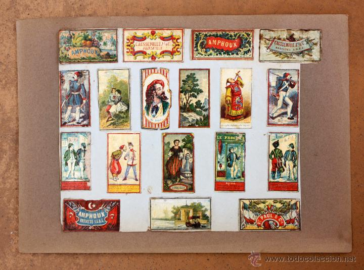 Cajas de Cerillas: IMPORTANTE LOTE CON ALREDEDOR DE 400 CAJAS DE CERRILLAS Y FOTOTIPIAS DEL SIGLO XIX - Foto 8 - 50185373