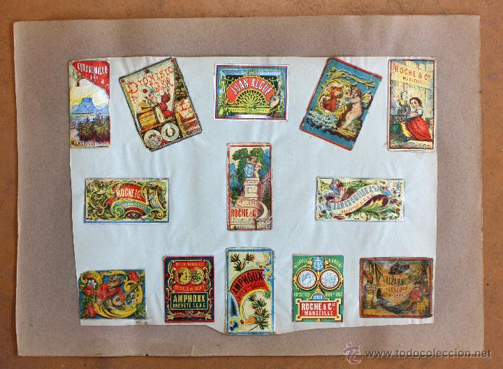 Cajas de Cerillas: IMPORTANTE LOTE CON ALREDEDOR DE 400 CAJAS DE CERRILLAS Y FOTOTIPIAS DEL SIGLO XIX - Foto 14 - 50185373