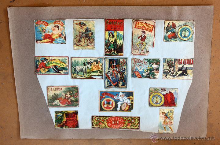 Cajas de Cerillas: IMPORTANTE LOTE CON ALREDEDOR DE 400 CAJAS DE CERRILLAS Y FOTOTIPIAS DEL SIGLO XIX - Foto 16 - 50185373